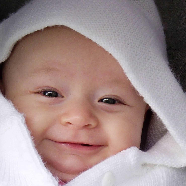 Portrait de bébé, sourire