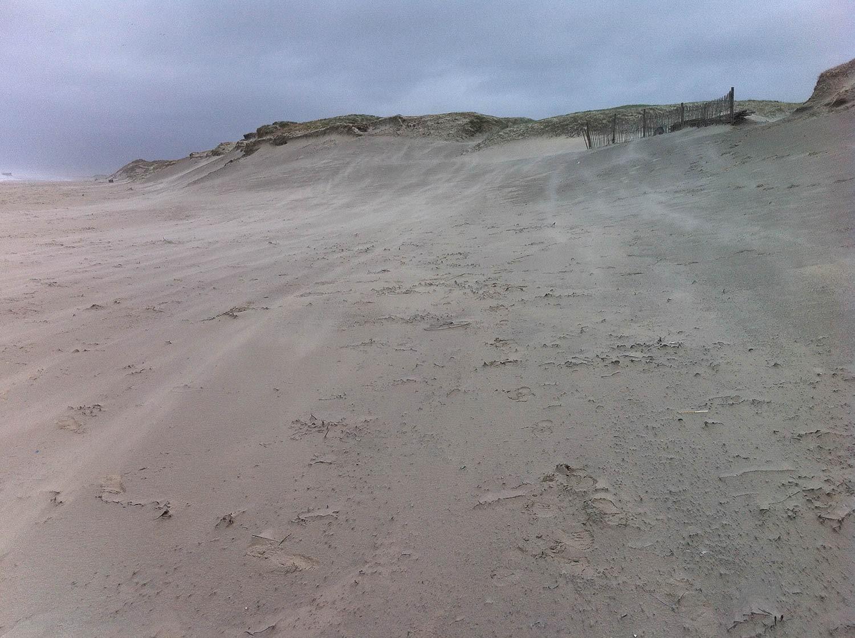 Dune, bord de mer, hiver à Plomeur, Bretagne