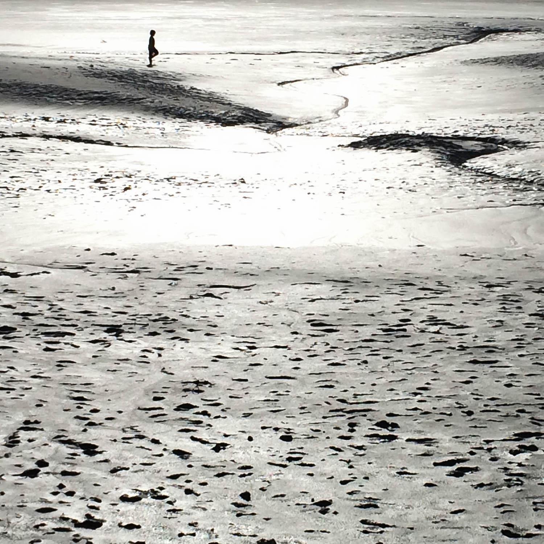 Enfant danse sur les sables mouvants, Mont Saint-Michel