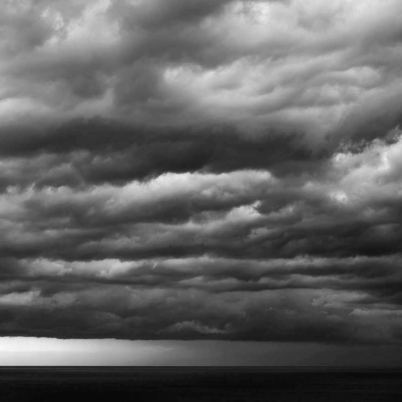 Orage sur la mer méditerranée, espagne