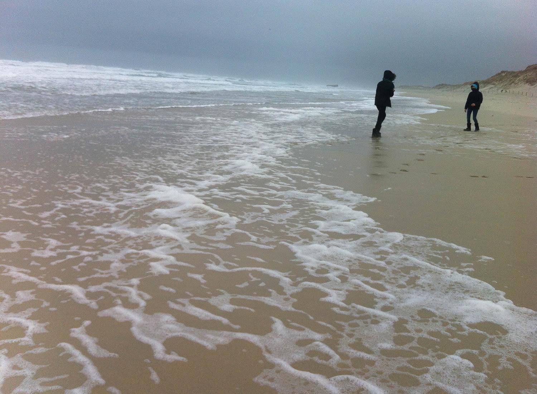 Océan atlantique, hiver à Plomeur, Bretagne